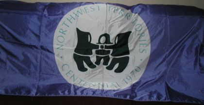 [Northwest Territories centennial flag]