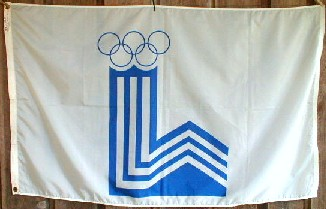 [Flag of the 13th Olympic Winter Games: Lake Placid 1980]