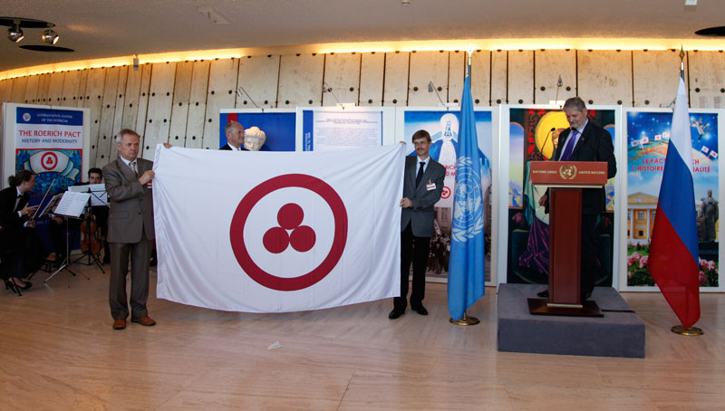 Roerich flag donated to UN