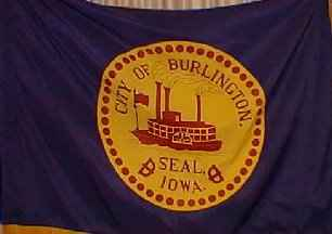 [Flag of Burlington, Iowa]