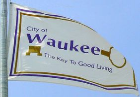[Flag of Waukee, Iowa]