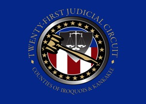 [21st Judicial Circuit of Iroquois and Kankakee Counties, Illinois flag]