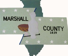 [Marshall County, Illinois flag]