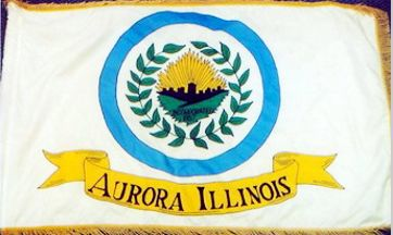 [Aurora, Illinois flag]