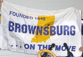 [Brownsburg, Indiana flag]