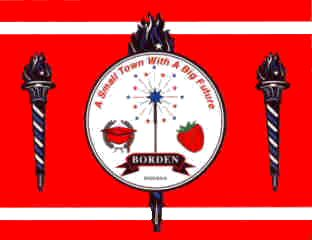 [Borden, Indiana flag]