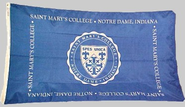 [Flag of Saint Mary's College - Notre Dame, Indiana]